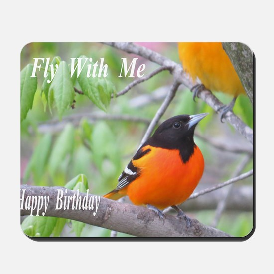 Northern Oriole Mousepad