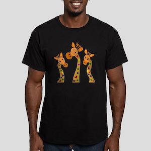 Whimsical Giraffe Art Men's Fitted T-Shirt (dark)