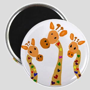 Whimsical Giraffe Art Magnet