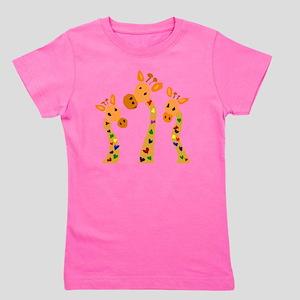 Whimsical Giraffe Art Girl's Tee