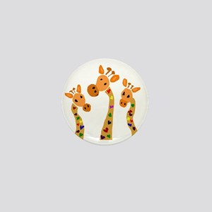 Whimsical Giraffe Art Mini Button