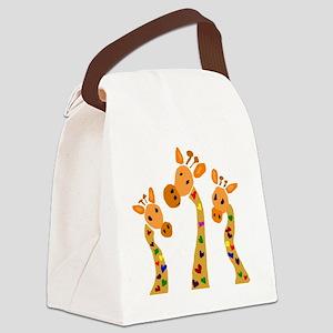 Whimsical Giraffe Art Canvas Lunch Bag