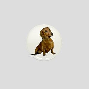 Brown-Red Dacshund Mini Button