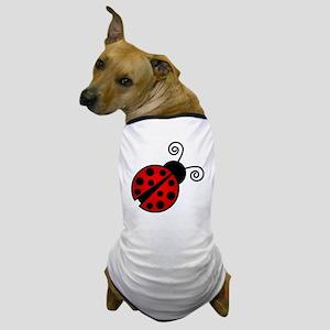 Red Ladybug 2 Dog T-Shirt