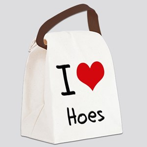I Love Hoes Canvas Lunch Bag