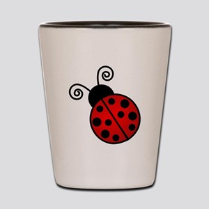 Red Ladybug Shot Glass