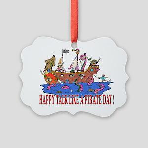 Happy Talk like A Pirate Day Picture Ornament