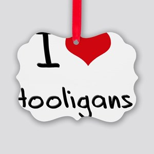 I Love Hooligans Picture Ornament