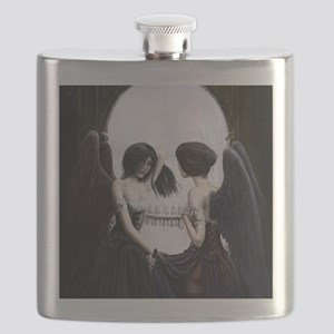 skull illusion coloured gn high res Flask