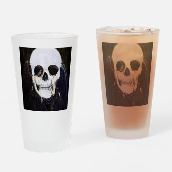 skull illusion coloured gn high res Drinking Glass