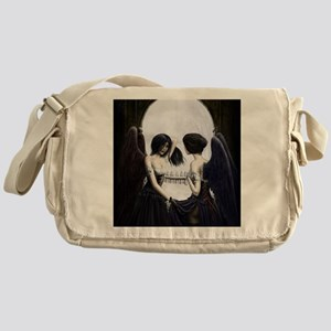 skull illusion coloured gn high res Messenger Bag