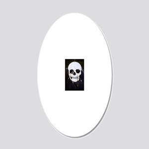 skull illusion coloured gn h 20x12 Oval Wall Decal