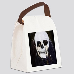 skull illusion coloured gn high r Canvas Lunch Bag