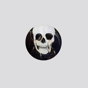skull illusion coloured gn high res Mini Button