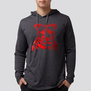 PIT BULL HEAD RED Long Sleeve T-Shirt