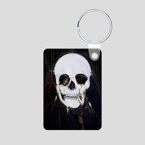 skull illusion for clipboa Aluminum Photo Keychain