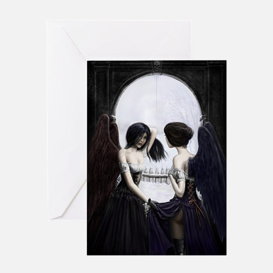 skull illusion for clipboard Greeting Card