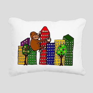 Funny Big Ape Hugging Bu Rectangular Canvas Pillow