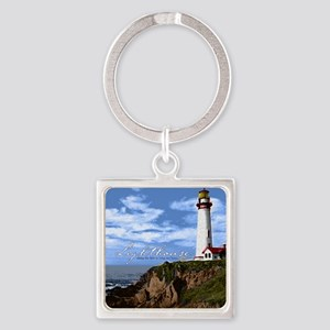 Lighthouse Square Keychain