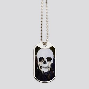 skull illusion Dog Tags