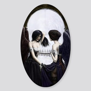 skull illusion Sticker (Oval)