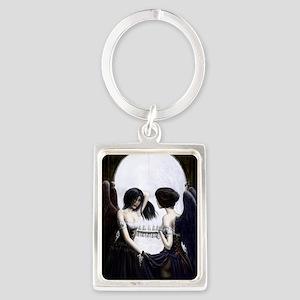 skull illusion Portrait Keychain