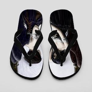 skull illusion Flip Flops