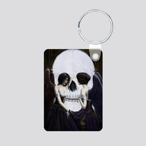 skull illusion Aluminum Photo Keychain