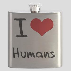 I Love Humans Flask