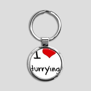 I Love Hurrying Round Keychain