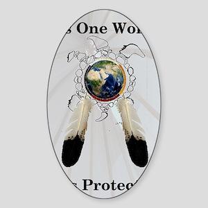 One World Logo Sticker (Oval)