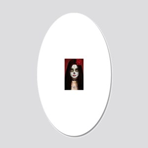 pretty dead for journal 20x12 Oval Wall Decal