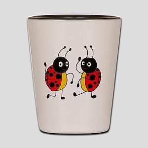 Funny Ladybugs Dancing Shot Glass