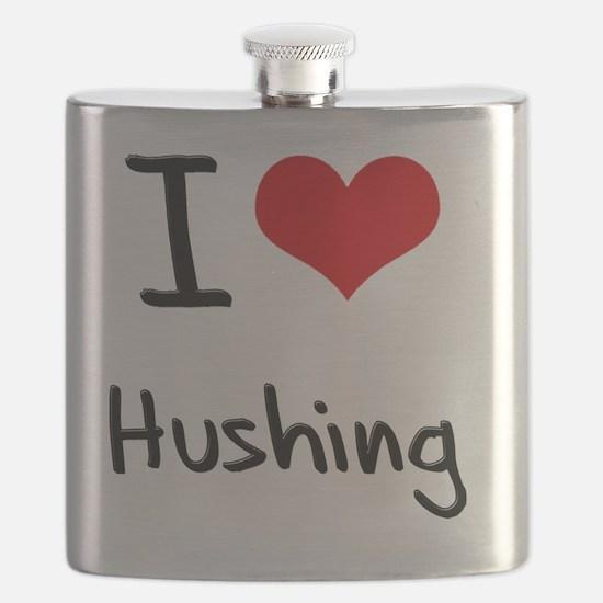 I Love Hushing Flask