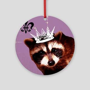 A Trashy Princess Round Ornament