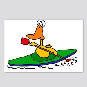 Funny Duck Kayaking Postcards (Package of 8)