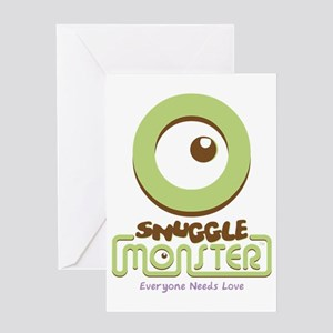 Snuggle Monster Greeting Card