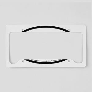 Panama City Beach Oval Sticke License Plate Holder