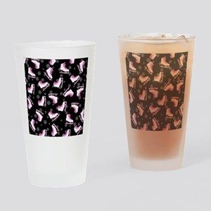 Pink and Black Ice Skating and Snow Drinking Glass