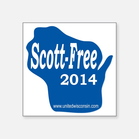 "Scott-Free Wisconsin Square Sticker 3"" x 3"""