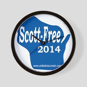 Scott-Free Wisconsin Wall Clock