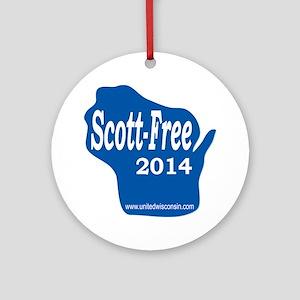 Scott-Free Wisconsin Round Ornament