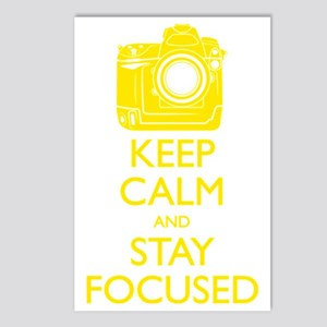 Keep Calm and Stay Focuse Postcards (Package of 8)