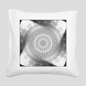 Metal Element bordered kaleid Square Canvas Pillow