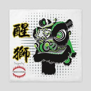 Futhok Lion Zhang Fei Style Queen Duvet