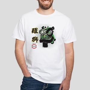 Futhok Lion Zhang Fei Style White T-Shirt