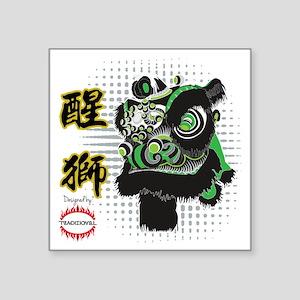"Futhok Lion Zhang Fei Style Square Sticker 3"" x 3"""