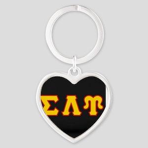 Sigma Lambda Upsilon Heart Keychain