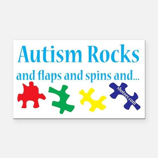 Autism Rocks Rectangle Car Magnet