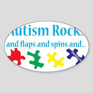 Autism Rocks Sticker (Oval)